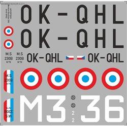 Morane-Saulnier MS 230 - 1/72 obtisk