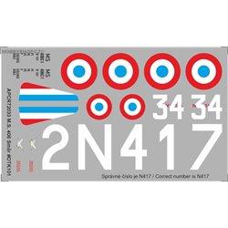 Morane-Saulnier M.S. 406 - 1/72 decal