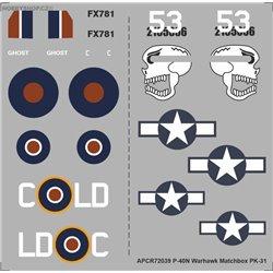 P-40N Warhawk - 1/72 decal