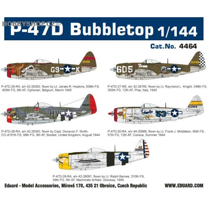 P-47D Bubbletop Super44 - 1/144 kit