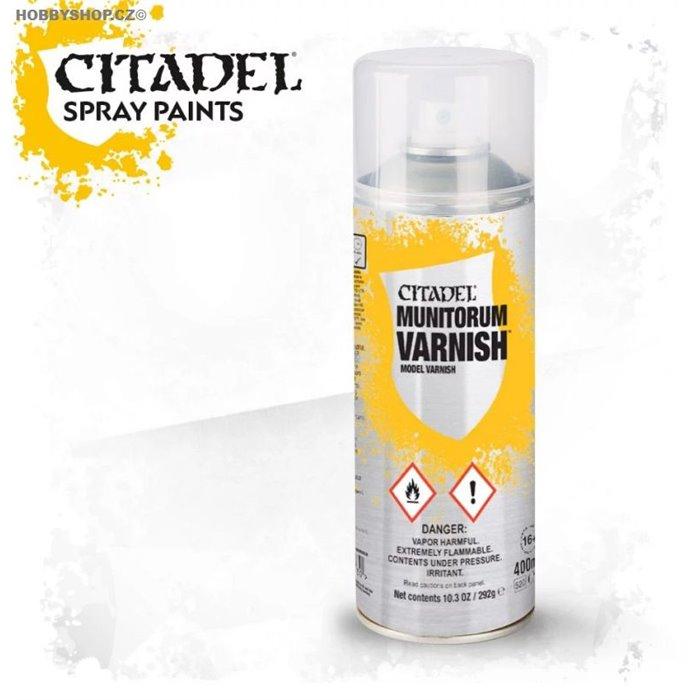 Munitorum Varnish Spray 400ml matt