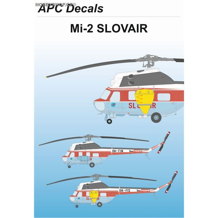 Mil Mi-2 Slovair - 1/48 decal