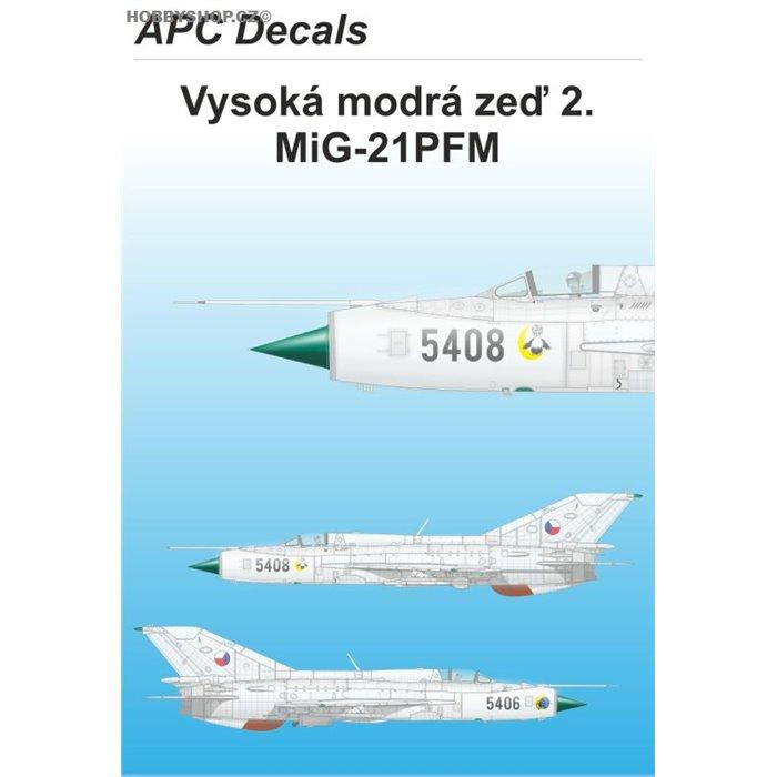 Vysoká modrá zeď 2. - MiG-21PFM - 1/48 decal