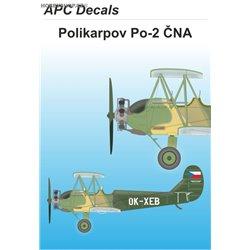 Po-2 ČNA - 1/72 decal