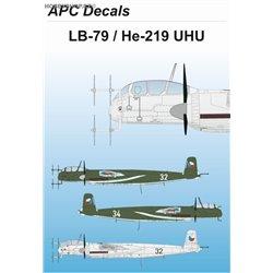 LB-79 / He 219 Uhu - 1/72 obtisk