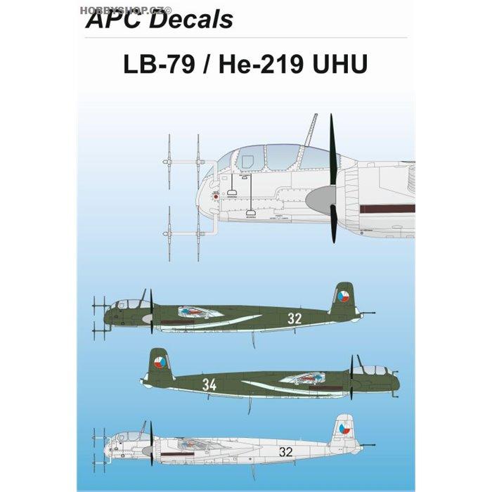 LB-79 / He 219 Uhu - 1/72 decal