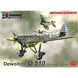 Dewoitine D.510 in Foreign Servicel - 1/72 kit