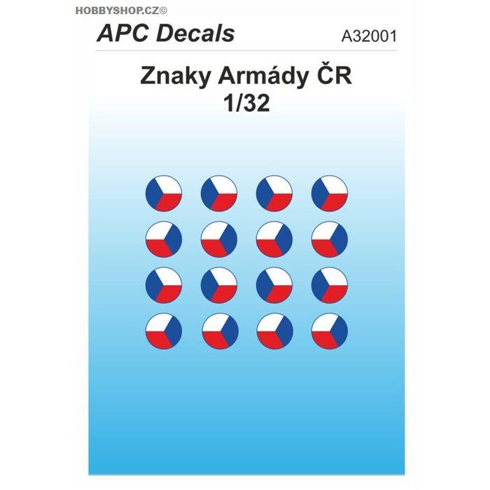 Czech Army AFV insignia - 1/32 decal