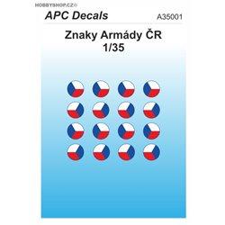 Czech Army AFV insignia - 1/35 decal