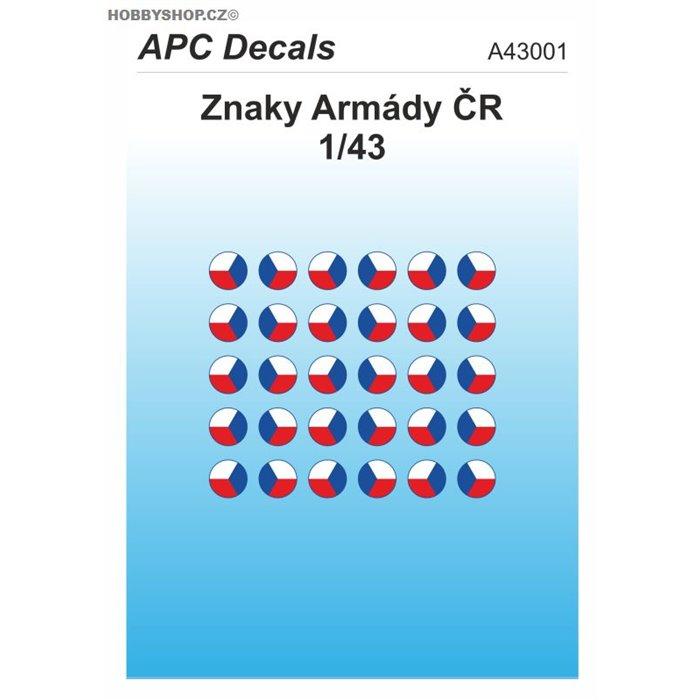 Czech Army AFV insignia - 1/43 decal