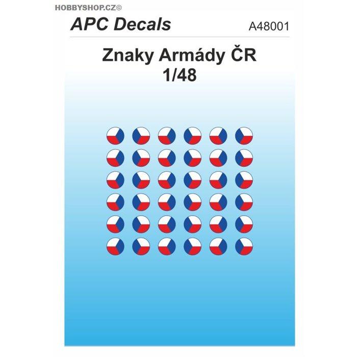 Czech Army AFV insignia - 1/48 decal