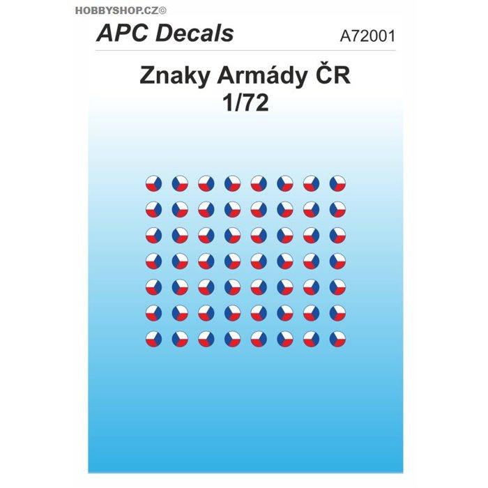 Czech Army AFV insignia - 1/72 decal