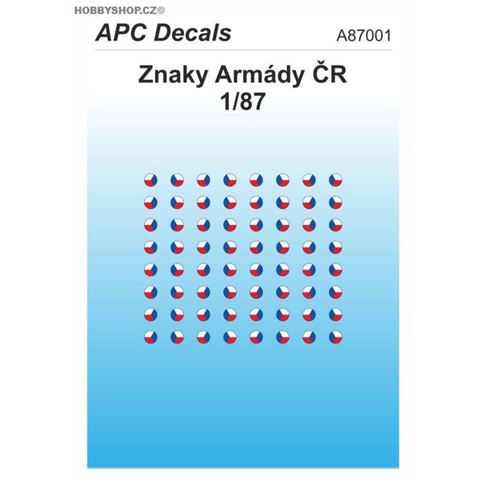 Czech Army AFV insignia - 1/87 decal