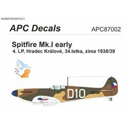 Spitfire Mk.I CSR - 1/72 decal