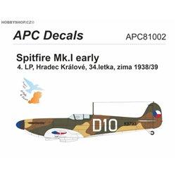 Spitfire Mk.I ČSR - 1/144 obtisk