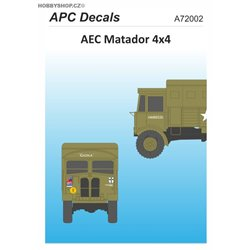 AEC Matador 4x4 - 1/76 decal