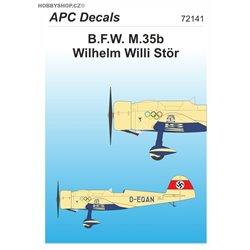 B.F.W. M.35b W. Willi Stör - 1/72 decal