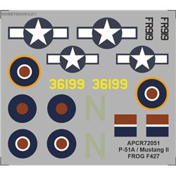 P-51A / Mustang II - 1/72 obtisk