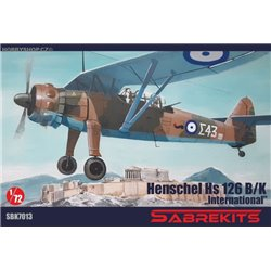 Henschel Hs 126B/K International - 1/72 kit