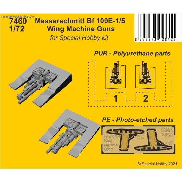 Messerschmitt Bf 109E-1/5 Wing Machine Guns - 1/72 set