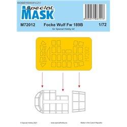 Focke Wulf Fw 189B Mask - 1/72 mask