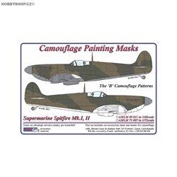 Supermarine Spitfire Mk.I,II The B camouflage pattern - 1/72 mask