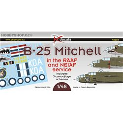 B-25 Mitchel in the RAAF and NEIAF service - 1/48 decals