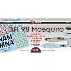 D.H. 98 Mosquito used by austr. pil.  in the RAAF and RAF - 1/48 decals