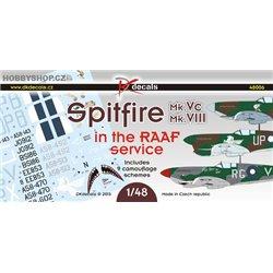 Spitfire Mk.Vc / Mk.VIII in the RAAF service - 1/48 decals