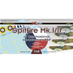 Spitfire Mk.I/II of Czechoslovak squadrons in RAF - 1/48 decals