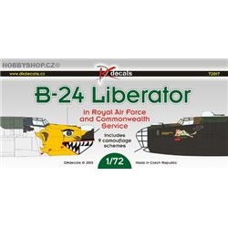 B-24 Liberator in the RAF and Commonwealth service - 1/72 obtisk