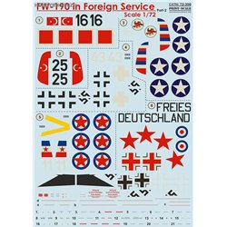 Fw 190 in Foreign Service - 1/72 decals