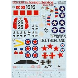 Fw 190 in Foreign Service - 1/72 obtisk