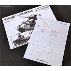 Stuart & Sherman - 1/35 decal
