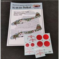 Ki-48-IIb Sokei - 1/72 decals