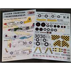 Allied fighters over the Mediterranean - 1/72 decals
