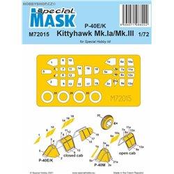 P-40E/K/Kittyhawk Mk.Ia/Mk.III - 1/72 mask