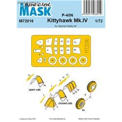 P-40N/Kittyhawk Mk.IV - 1/72 maska