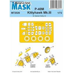P-40M/Kittyhawk Mk.III - 1/72 mask