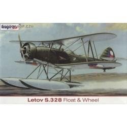 Letov S-328 Float & Wheel - 1/72 kit