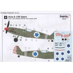 Avia S-199 Sakin IAF - 1/72 decal