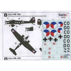 Aero MB-200 - 1/72 decal