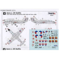 Aero L-29 Delfin - 1/72 decal