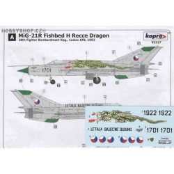 MiG-21R Recce Dragon - 1/72 decal
