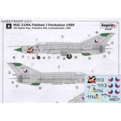MiG-21MA Pardubice 1989 - 1/72 decal