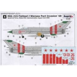 MiG-21 Warsaw Pact Invasion 1968 - 1/72 decal