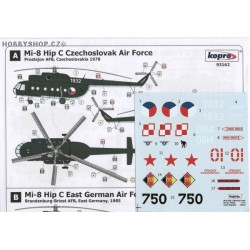 Mi-8 Hip C CZAF, E. Germany, Poland, Russia - 1/72 decal
