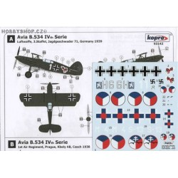 Avia B-534 IVth serie - 1/72 decal