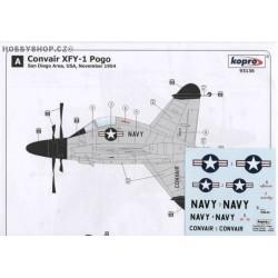 Convair XFY-1 Pogo - 1/72 decal