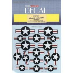 USAF postwar stars and bars - 1/72 decal